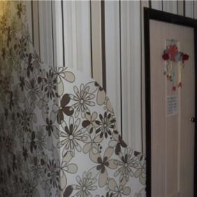 papier peint combiné dans le couloir des idées d'idées d'appartement