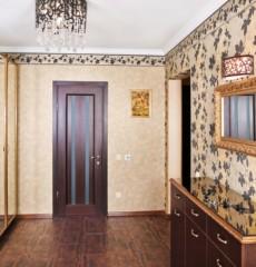 papier peint combiné dans le couloir des idées photo appartement