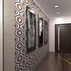 papier peint combiné dans le couloir des idées de revue d'appartement
