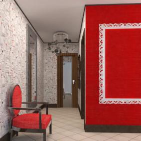 papier peint combiné dans le couloir de l'appartement idées avis