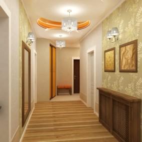 papier peint combiné dans le couloir de l'appartement types de conception