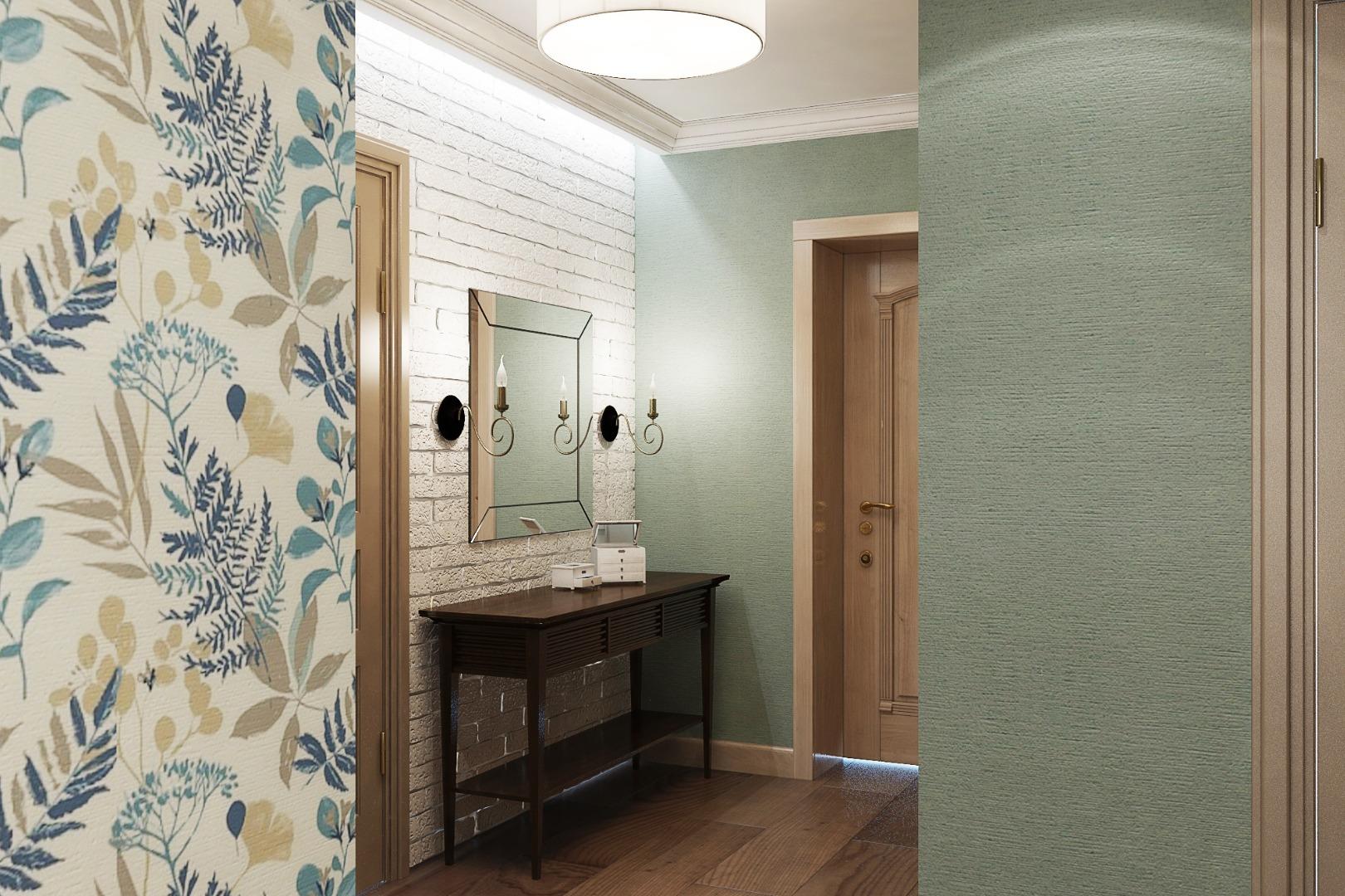 papier peint combiné dans le couloir