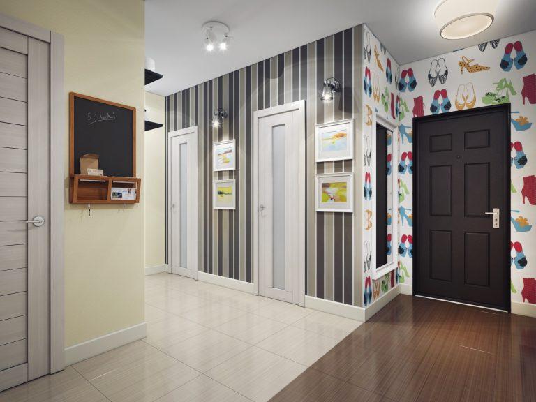 papier peint dans le couloir vues et idées