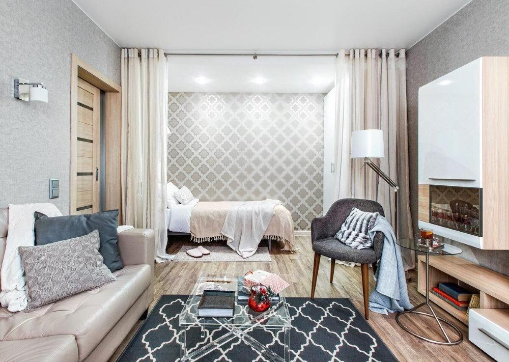 Odnushki design avec lit et canapé