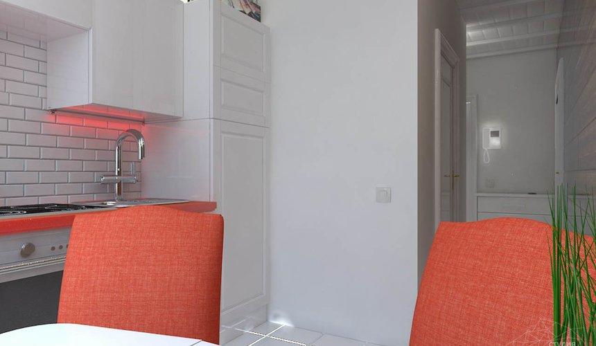 Dos lumineux des chaises dans la cuisine dans un style minimaliste