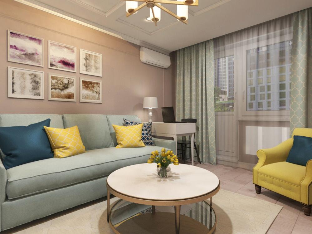 Séjour dans un appartement de style classique