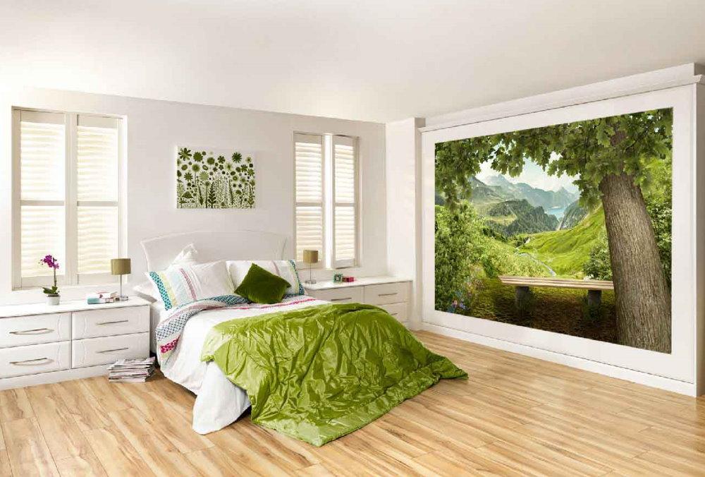 Forêt en photo dans une chambre lumineuse