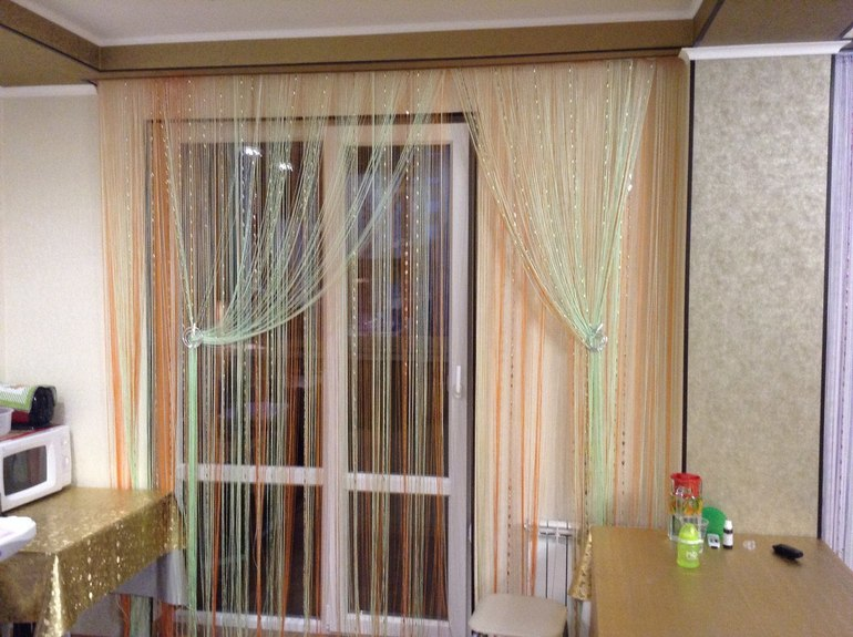 rideaux dans le décor de la cuisine