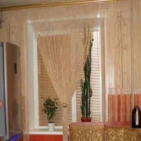 rideaux de filament dans la conception de la cuisine
