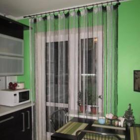 rideaux à l'intérieur des idées de cuisine