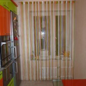 rideaux dans le décor photo de la cuisine