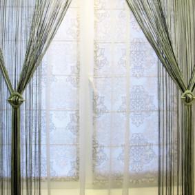 rideaux à l'intérieur de la photo de la cuisine