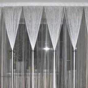 rideaux de filament dans la cuisine