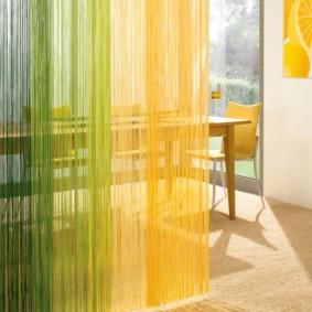 rideaux dans la cuisine vues photo