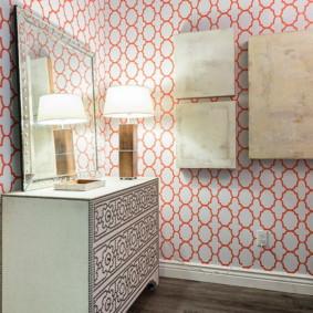 papier peint pour la salle dans un décor Khrouchtchev