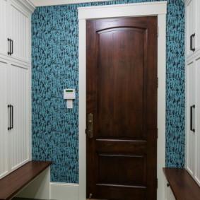 papier peint pour le couloir à l'intérieur de la photo Khrouchtchev
