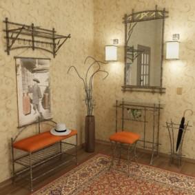 papier peint pour la salle dans les idées de conception Khrouchtchev