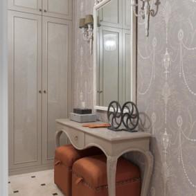 papier peint pour le couloir dans la conception de photos Khrouchtchev