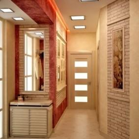 papier peint et pierre décorative à l'intérieur du couloir idées idées commentaires