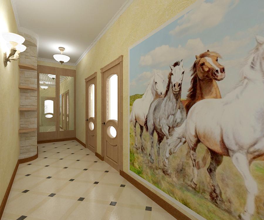 papier peint dans les vues du couloir