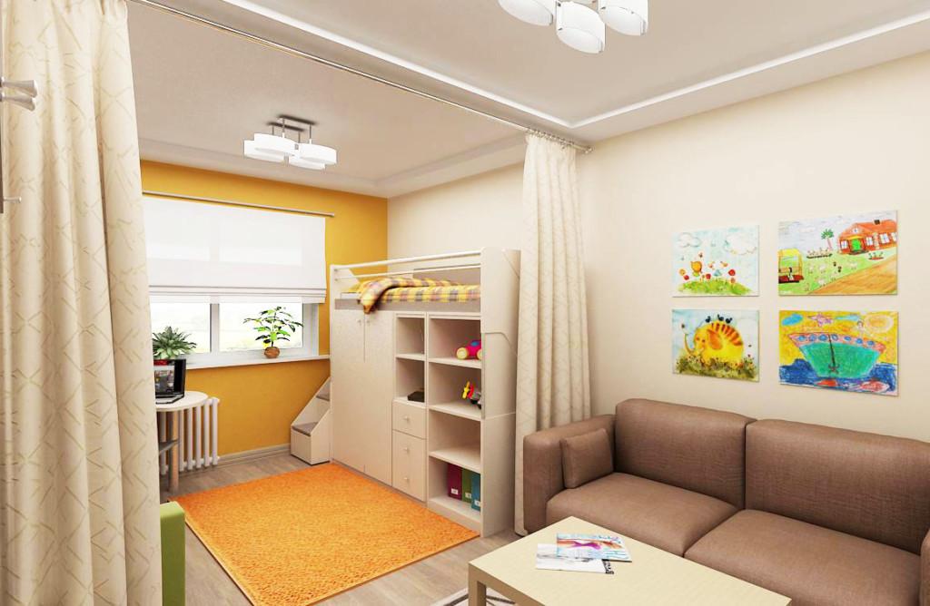 Espace enfants dans un studio