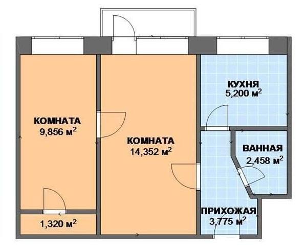 Prévoyez deux pièces Khrouchtchev avant le réaménagement