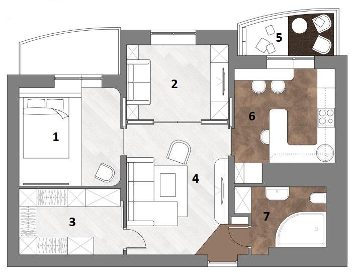 Projet de réaménagement d'un appartement de deux pièces