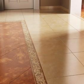 carreaux de sol dans les options de couloir
