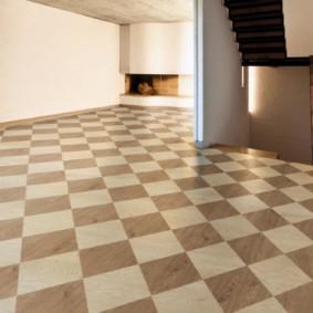 carreaux de sol dans les options de photo de couloir