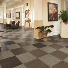 carreaux de sol dans le couloir vues photo