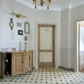 carreaux de sol dans l'aperçu du couloir