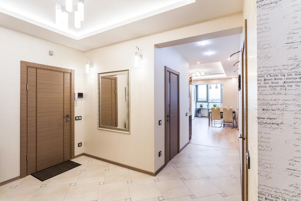 carreaux de sol dans la photo de conception du couloir