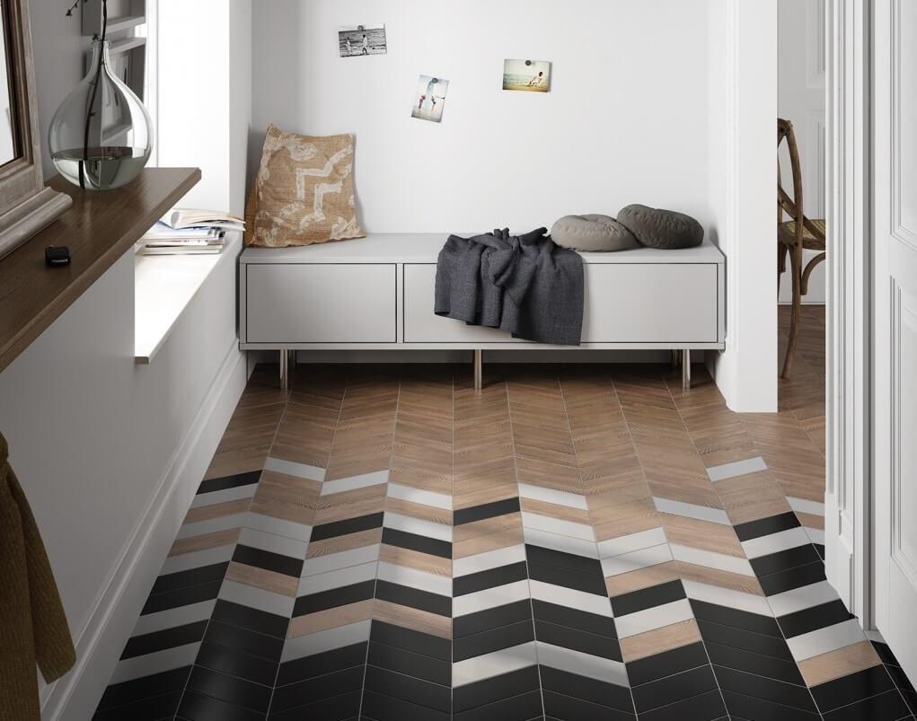 carreaux de sol dans le couloir photo intérieure
