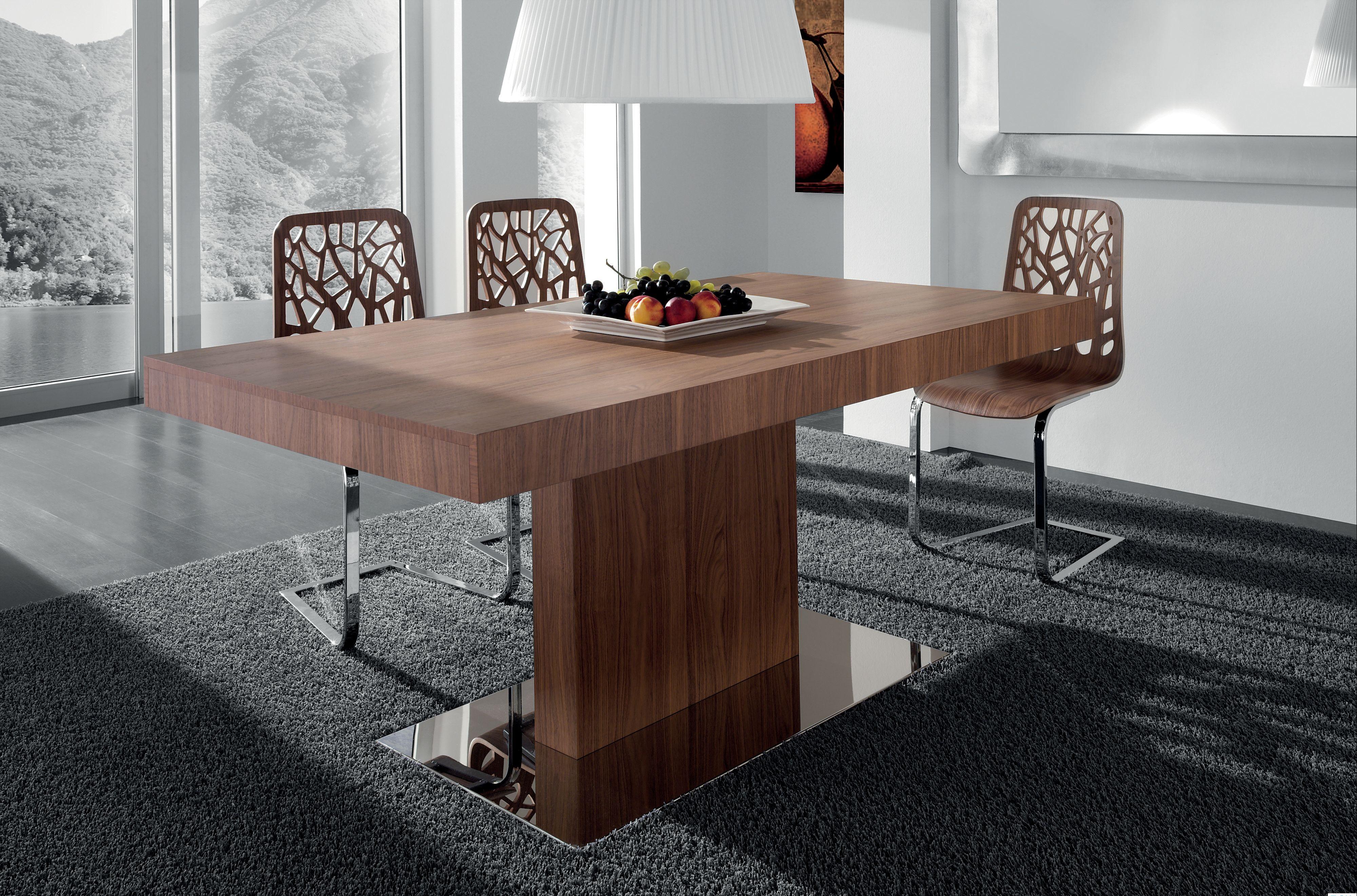 table rectangulaire sur un pied pour la cuisine