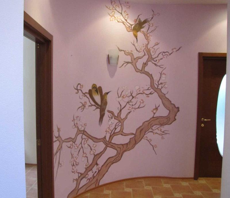 Dessin sur le mur à l'intérieur du couloir