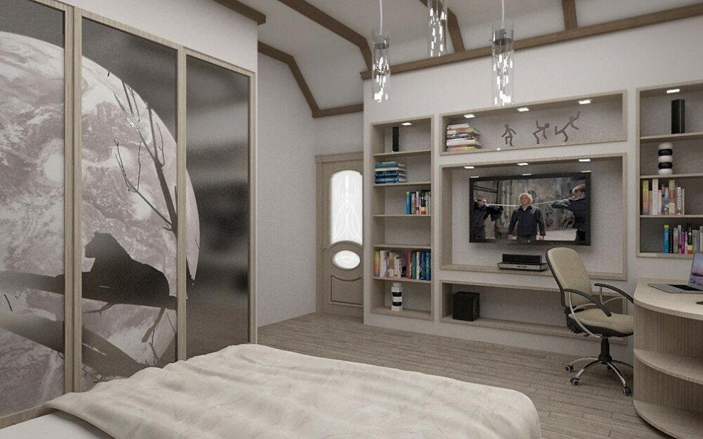 Conception d'une armoire de chambre à coucher dans un style moderne