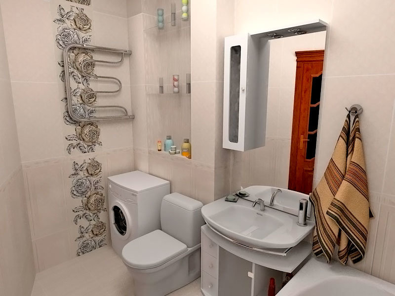 Intérieur de salle de bain combiné