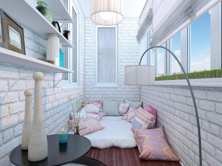 Murs de briques de couleur claire