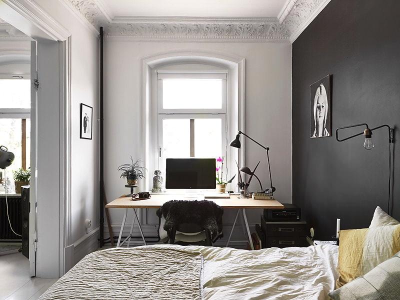 Zonage d'une chambre avec armoire murale