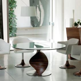 table à un pied pour des idées de conception de cuisine
