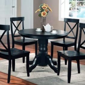 table sur une jambe pour le décor photo de la cuisine