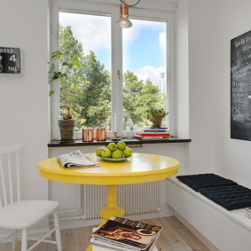 table sur une jambe pour les options de photo de cuisine
