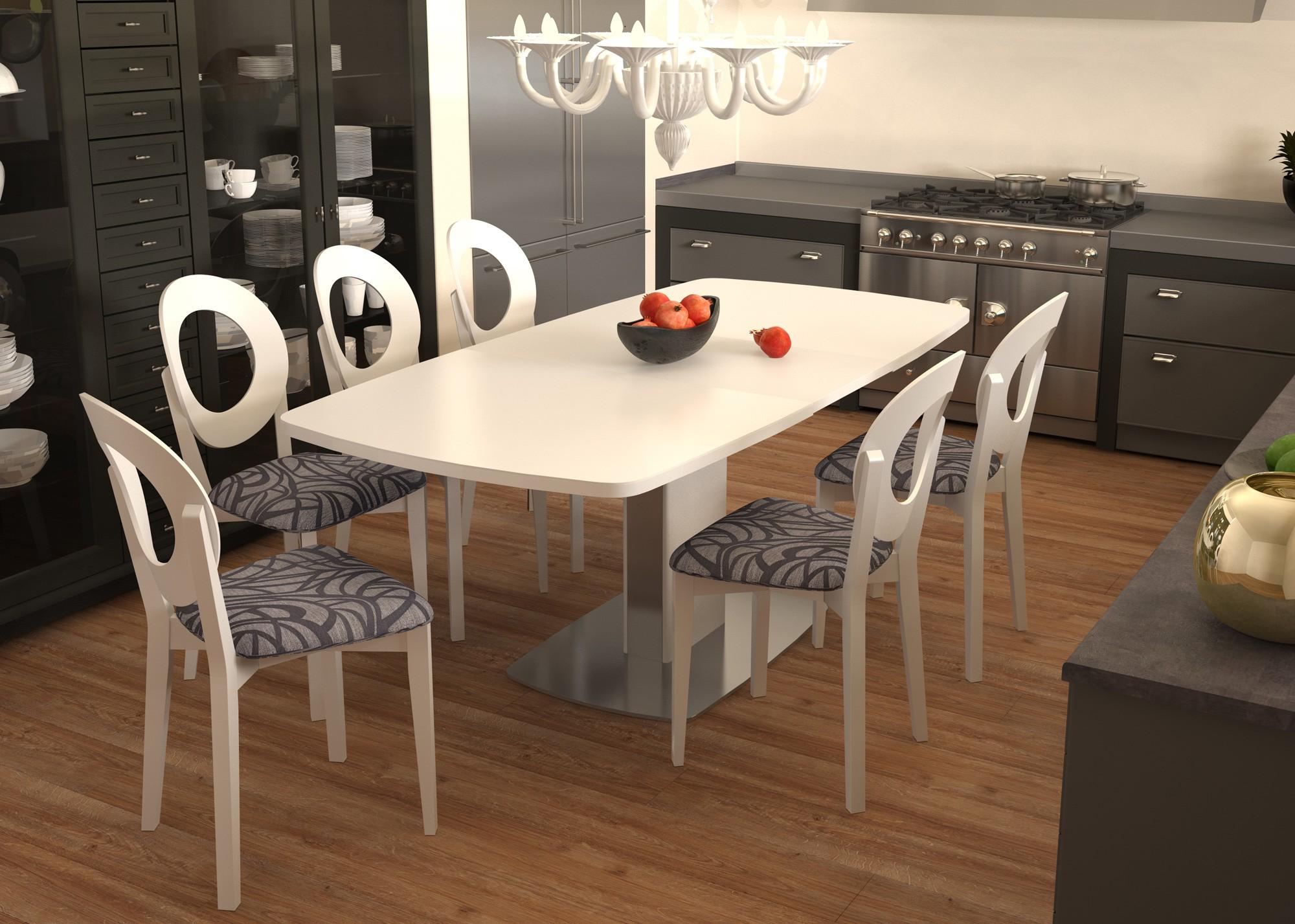 table à un pied pour la conception de la cuisine