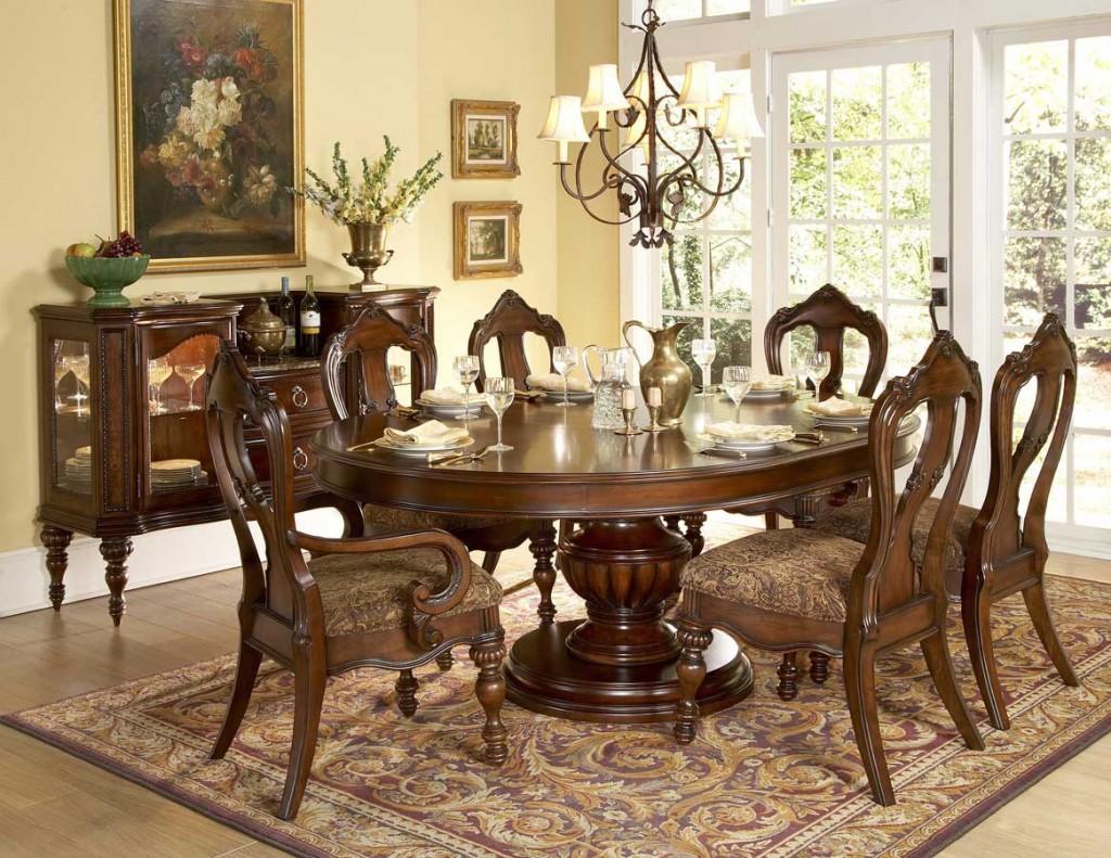 table sur un pied pour une cuisine classique
