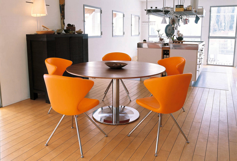 table sur une jambe pour les options de cuisine