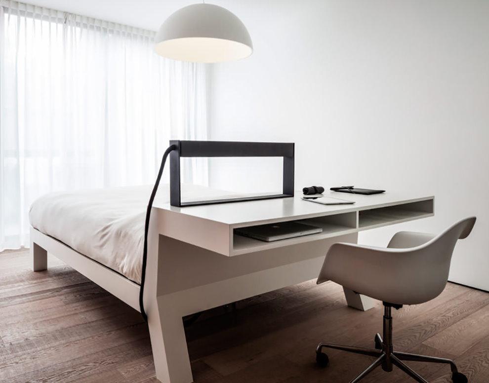 Table d'ordinateur tête de lit