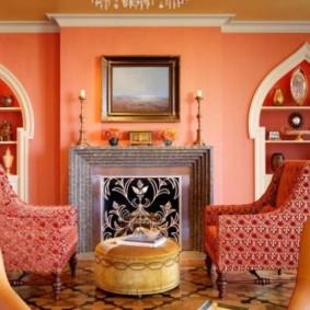 conception de salon de style oriental