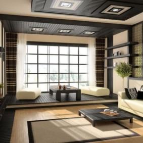 photo de conception de salon de style oriental