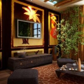 conception de photo de salon de style oriental