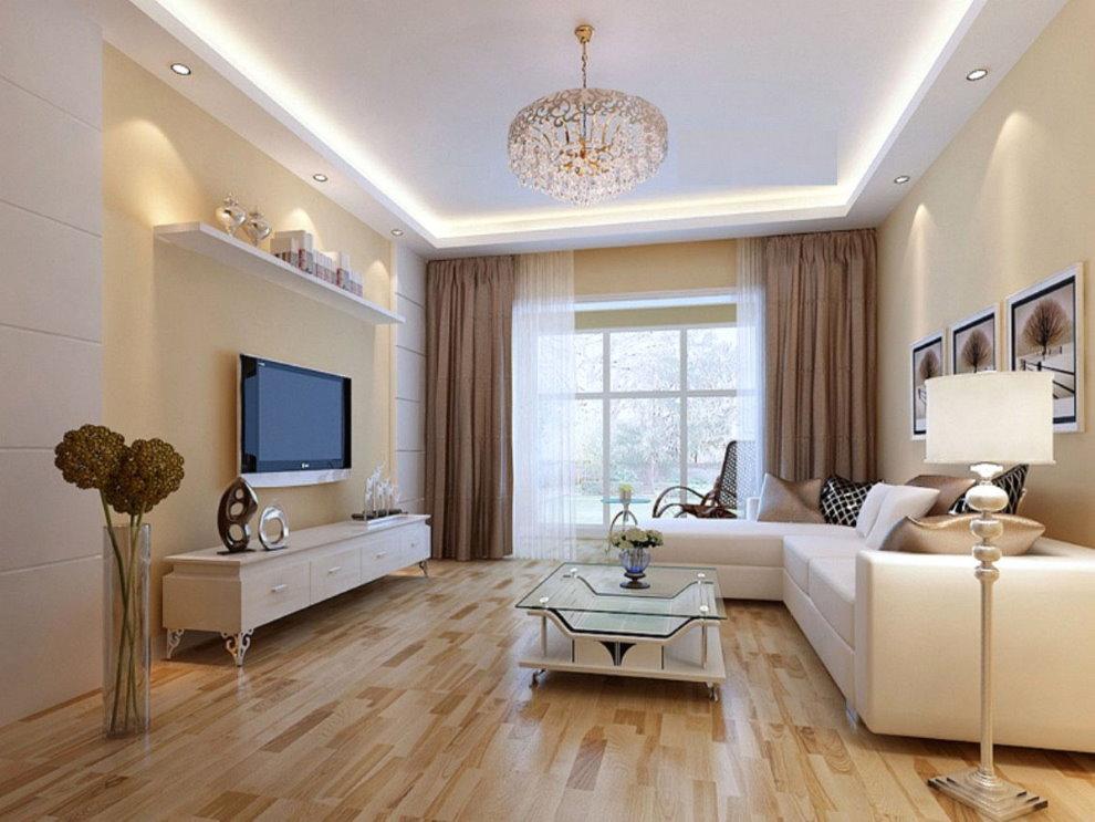 Concevez un salon dans un style moderne